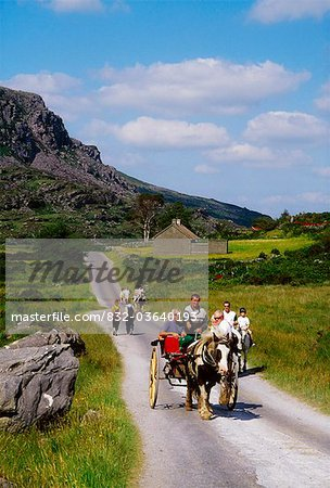 Gap Of Dunloe, Killarney National Park, County Kerry, Ireland; Horse And Buggy Stock Photo - Rights-Managed, Image code: 832-03640193