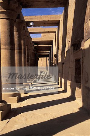 Peristyle in ancient Egyptian temple Stock Photo - Rights-Managed, Image code: 832-03724612