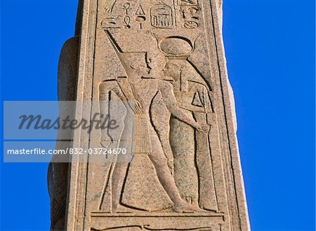 Carved pillar at Karnak, Close Up Stock Photo - Rights-Managed, Image code: 832-03724670