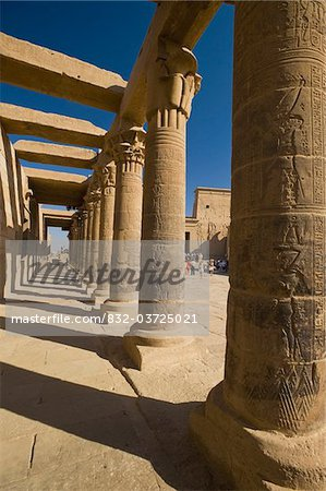 Looking along West Colonnade to Temple of Isis Stock Photo - Rights-Managed, Image code: 832-03725021