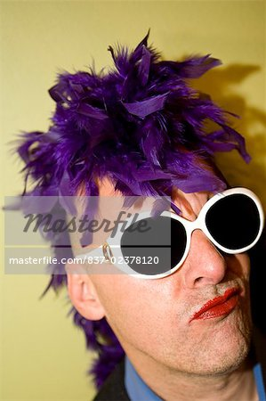 Close-up of a gay man making a face Stock Photo - Rights-Managed, Image code: 837-02378120