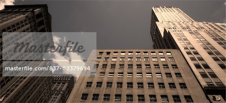 Low angle view of a building, Wall Street, Manhattan, New York City, New York State, USA Stock Photo - Rights-Managed, Image code: 837-02379694