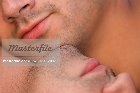 Close-up of a gay couple romancing Stock Photo - Rights-Managed, Image code: 837-02382012