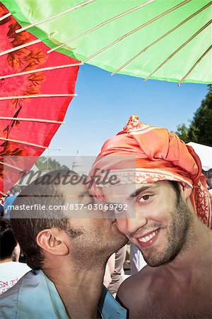 Close-up of a male homosexual couple,DuPont Circle,Washington DC,USA Stock Photo - Rights-Managed, Image code: 837-03069792