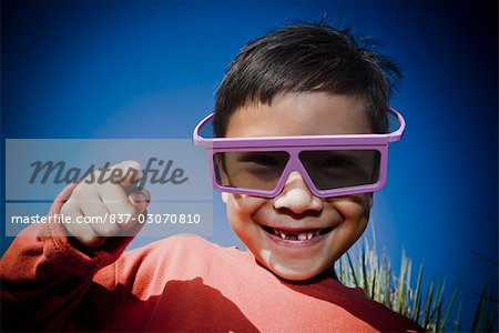 Portrait of a boy smiling Stock Photo - Rights-Managed, Image code: 837-03070810