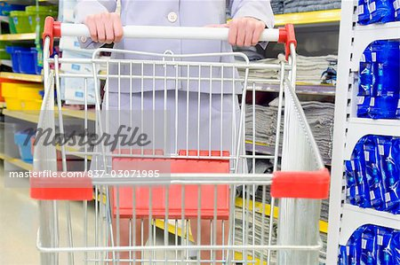 Woman shopping in a supermarket Stock Photo - Rights-Managed, Image code: 837-03071985