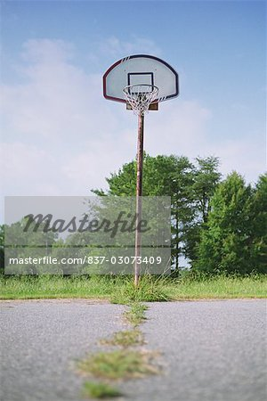 Basketball hoop in a park Stock Photo - Rights-Managed, Image code: 837-03073409