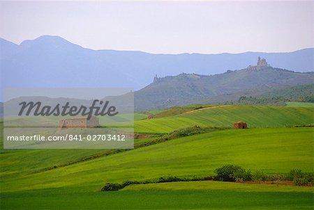 Landscape near Los Arcos, Navarre, Spain, Europe