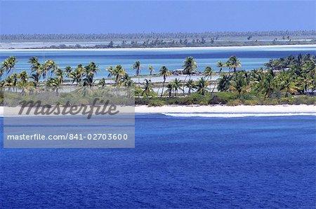 Aerial view of Christmas Island, Kiribati, Pacific