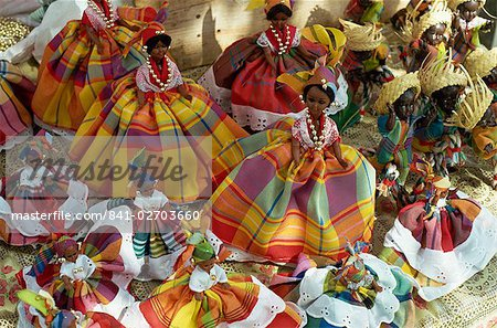 Dolls in Martinique dress, on display for sale, Fort de France, Martinique, Windward Islands, West Indies, Caribbean, Central America    Stock Photo - Premium Rights-Managed, Artist: robertharding, Code: 841-02703660