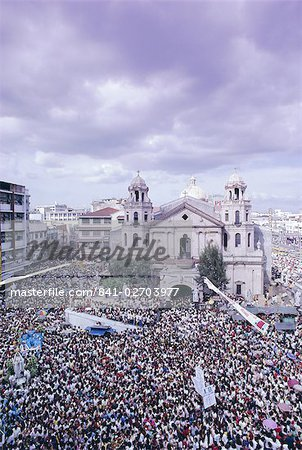 Crowds of pilgrims and devotees, Black Nazarene festival, downtown, Quiapo, Manila, Philippines, Southeast Asia, Asia Stock Photo - Rights-Managed, Image code: 841-02703977