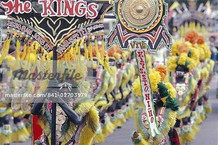 Procession, Ati Atihan carnival, Kalibo, island of Panay, Philippines, Southeast Asia, Asia Stock Photo - Rights-Managed, Image code: 841-02703979