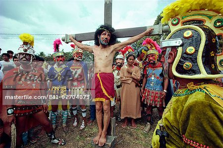 Easter Holy Week Way of the Cross procession and crucifixion during annual Moriones festival in the Philippines, Southeast Asia, Asia Stock Photo - Rights-Managed, Image code: 841-02704073