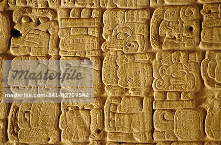 Mayan carvings on Stela, Tikal, Guatemala, Central America Stock Photo - Rights-Managed, Image code: 841-02709542
