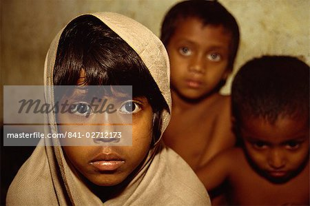 Portrait of children of the Dhaka (Dacca) slums, Bangladesh, Asia Stock Photo - Rights-Managed, Image code: 841-02712173