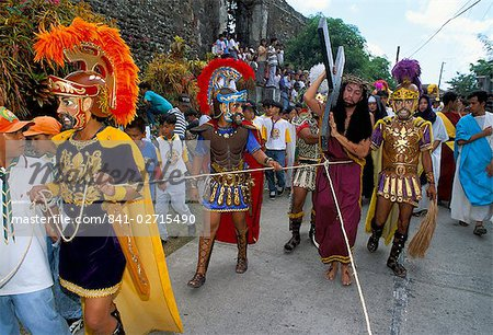 Christ of Calvary in Easter procession, Morionnes, island of Marinduque, Philippines, Southeast Asia, Asia Stock Photo - Rights-Managed, Image code: 841-02715490