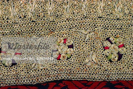 Detail of Kurta worn at weddings in the Punjab, Pakistan, Asia Stock Photo - Rights-Managed, Image code: 841-02824263