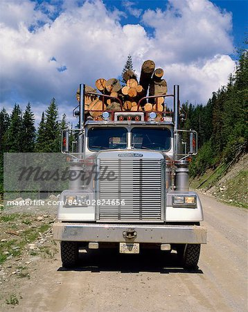 Logging truck, British Columbia, Canada, North America Stock Photo - Rights-Managed, Image code: 841-02824656