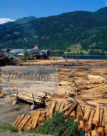 Lumber mill near Chase, British Columbia, Canada, North America Stock Photo - Rights-Managed, Image code: 841-02824660