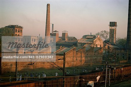 Cotton mills in Ahmedabad, the Manchester of the East, Gujarat, India, Asia Stock Photo - Rights-Managed, Image code: 841-02900382