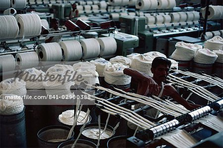 Modernised cotton mill in Ahmedabad, the Manchester of the East, Gujarat, India, Asia Stock Photo - Rights-Managed, Image code: 841-02900388