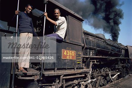 Steam locomotive, India, Asia Stock Photo - Rights-Managed, Image code: 841-02900425