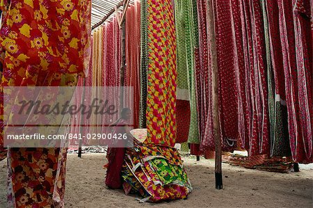 Screen print textiles, Ahmedabad, Gujarat, India, Asia Stock Photo - Rights-Managed, Image code: 841-02900426