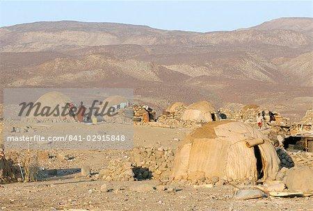 Desert camp of Afar nomads, Afar Triangle, Djibouti, Africa