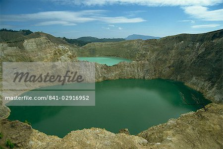 Crater Lakes at Keli Mutu, Moni, Flores, Indonesia, Southeast Asia, Asia Stock Photo - Rights-Managed, Image code: 841-02916952