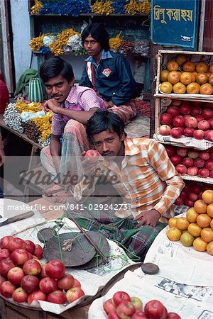 Fruit stall, bazaar, Dacca, Bangladesh, Asia Stock Photo - Rights-Managed, Image code: 841-02924273
