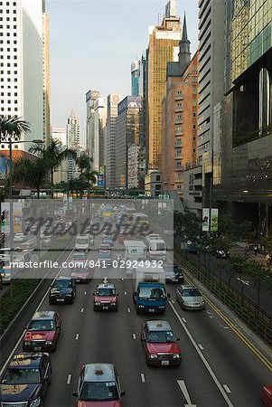 Busy traffic on Gloucester Road, Wanchai, Hong Kong, China, Asia Stock Photo - Rights-Managed, Image code: 841-02924932