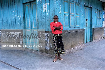 Man in red shirt in Bajawa, Flores, Indonesia, Southeast Asia, Asia Stock Photo - Rights-Managed, Image code: 841-02946975
