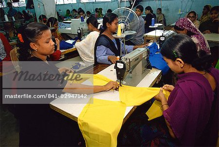 Women working in garment factory, Dhaka, Bangladesh, Asia Stock Photo - Rights-Managed, Image code: 841-02947142