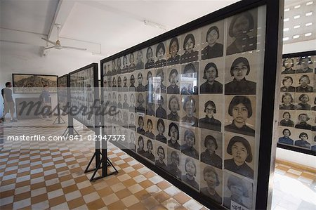 The Genocide Museum in a former school that was used by Pol Pot for torture, imprisonment and execution, Phnom Penh, Cambodia, Indochina, Southeast Asia, Asia Stock Photo - Rights-Managed, Image code: 841-02947373