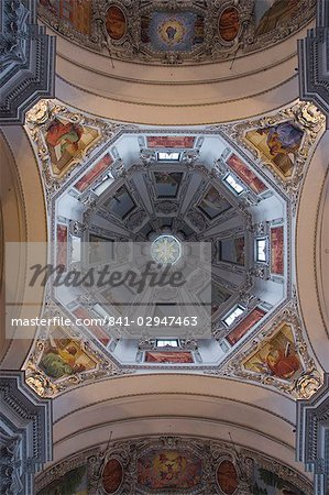 Inside of the cathedral dome, Salzburg, Austria, Europe
