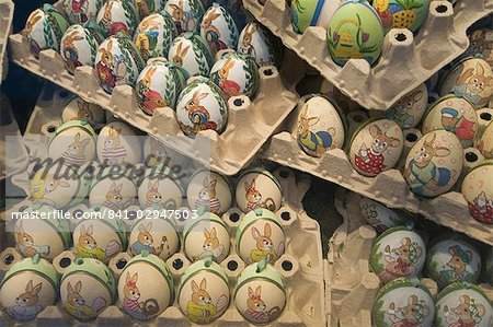 Hand painted eggs, Salzburg, Austria, Europe