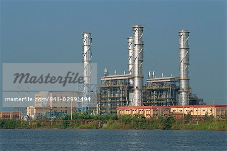 Chemical plant located on the Backwaters, Kerala state, India, Asia Stock Photo - Rights-Managed, Image code: 841-02991494