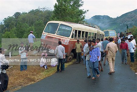 Bus accident near Munnar, Western Ghats, Kerala state, India, Asia Stock Photo - Rights-Managed, Image code: 841-02991516