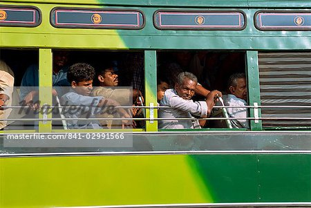 Passengers on a bus in Tamil Nadu state, India, Asia Stock Photo - Rights-Managed, Image code: 841-02991566