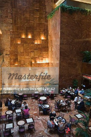 Inside restaurant in Trump Towers, Manhattan, New York, New York State, United States of America, North America Stock Photo - Rights-Managed, Image code: 841-03028162