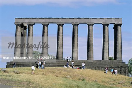 National monument, Calton Hill, Edinburgh, Lothian, Scotland, United Kingdom, Europe Stock Photo - Rights-Managed, Image code: 841-03029569