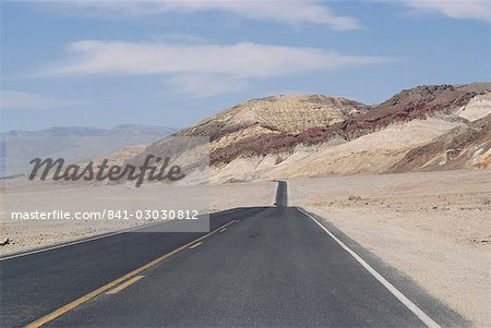 Road, Death Valley National Park, California, United States of America, North America Stock Photo - Rights-Managed, Image code: 841-03030812