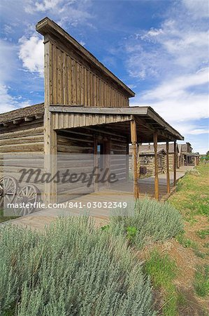 Original storefront or saloon relocated to the wild west town of Cody, Montana, United States of America, North America Stock Photo - Rights-Managed, Image code: 841-03032349