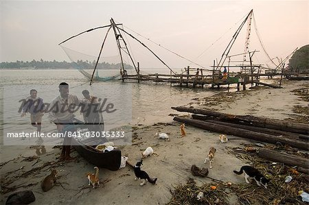 Chinese Fishing Nets,Cochin,Kerala,India Stock Photo - Rights-Managed, Image code: 841-03035333