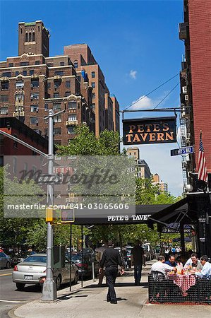 Pete's Tavern on Irving Place, Gramercy Park District, Midtown Manhattan, New York City, New York, United States of America, North America Stock Photo - Rights-Managed, Image code: 841-03065606