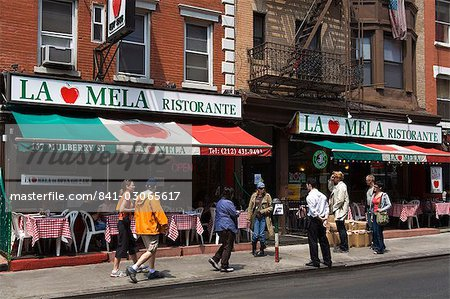 Restaurant in Little Italy in Lower Manhattan, New York City, New York, United States of America, North America Stock Photo - Rights-Managed, Image code: 841-03065617