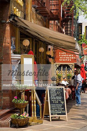 Restaurant in Little Italy in Lower Manhattan, New York City, New York, United States of America, North America Stock Photo - Rights-Managed, Image code: 841-03065619