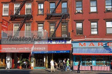 Restaurants on 8th Avenue in Chelsea District, Midtown Manhattan, New York City, United States of America, North America Stock Photo - Rights-Managed, Image code: 841-03065629