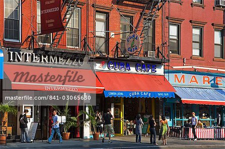 Restaurants on 8th Avenue in Chelsea District, Midtown Manhattan, New York City, United States of America, North America Stock Photo - Rights-Managed, Image code: 841-03065630