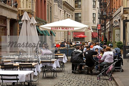 Outdoor dining on Stone Street, Lower Manhattan, New York City, New York, United States of America, North America Stock Photo - Rights-Managed, Image code: 841-03066368
